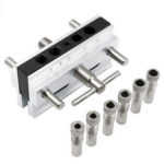 New              Metric/Inch Woodworking Self-Centering Hole Punch Locator Drill Guide Set Doweling Jig Kit