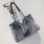 New              Fashion Women Plush Fur Handbag Purse Tote Shopping Large Shoulder Travel
