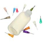 New              Top Quality 50ml Empty E-liquid Plastic Rosin Flux Alcohol Bottles For Dispenser Rosin Solder Flux Paste +330 Needles