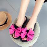 New              Women Flower Open Toe Casual Summer Beach Slippers