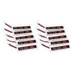 New              10Pcs URUAV 3.8V 300mAh 70C/140C 1S Lipo Battery PH2.0 Plug for Eachine TRASHCAN Snapper6 7 Mobula7