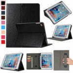 New              Bakeey PU Leather with Card Slots Pen Slot Hand Holder Strap Tablet Protective Case Cover for iPad 2017 / 2018 9.7 inch