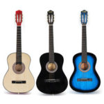 New              38 Inch 6 Strings Wooden Acoustic Guitar with Guitar Bag for Beginners