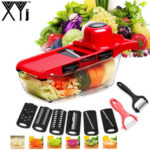 New              XYJ CCFG8901 Multi-function Vegetable Cutter Steel Blade Mandoline Slicer Potato Peeler Carrot Cheese Grater Vegetable Slicing Tool