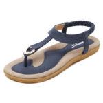 New              Women Clip Toe Elastic Band Summer Beach Casual Sandals