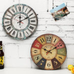 New              Vintage Round 12 Inch Wall Hanging Clock Hotel Home Living Room DIY Modern Decor