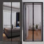 New              Mosquito Door Curtains Net Mesh Screen Bug Fly Pet Patio Hands Insect Proof Door Net