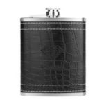New              7 oz Leather Stainless Steel Hip Flask Mini Water Bottle Alcohol Bottle