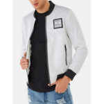 New              Mens Fashion Solid Color Turn Down Collar Pocket Jacket