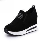 New              TENGOO Ldy-A Women Leisure Platform Hidden Wedge Heels Slip on Sneakers Shoes Sports Shoes