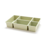 New              2192 Desktop Seperated Cosmetic Storage Box Plastic 5 Grids Drawer Debris Organizer Box Skincare Cosmetic Box