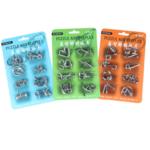 New              8Pcs Brain Puzzle Set Nine Series Set Student Toys Detachable Toys English Version