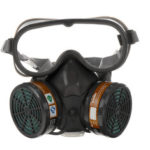 New              Industrial Chemical Gas Anti-Dust Spray Pain Eye Protection Windproof Gas Mask