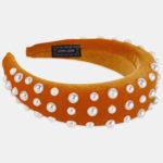 New              Pearl Sponge Headband Multicolor Ladies Headband