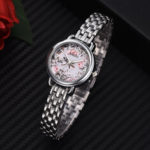 New              NAIDU Casual Style Decorative Full Steel Ladies Wrist Watch