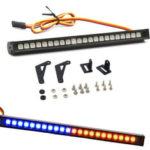 New              22LED Colorful RC Flashing LED Light Bar Roof Lamp Kit for 1/10 TRX4 SCX10 90046 RC Crawler Truck