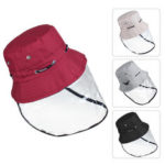 New              Transparent Protective Mask Anti-spitting Splash-Proof Hat Fisherman Cap