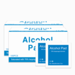 New              100 Pads/box Disposable Alcohol Cotton Pad 75% Isopropyl Alcohol/Ethyl Alcohol Swabs Antiseptic Wipes Disposable Disinfection Sterilization Wipes Health Care Wet Wipes Paper