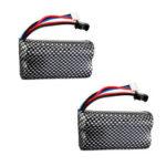 New              2PCS 7.4v 1300mah Lipo Battery For WPL B1 B16 B24 B36 C1 C24 C34 JJRC Q60 Q61 Q65 MN 90 RC Car Parts