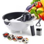 New              9 In 1 Multifunctional Vegetable Slicer with Drain Basket Household Potato Slicer Radish Grater Kitchen Tools Drain Basket Vegetable Cutter