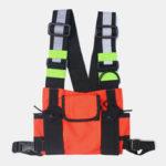 New              Men Women Oxford Vest Reflective Tactical Chest Bag Cool Bag