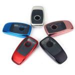 New              2 IN 1 TPU Remote Smart Key Case Fob Cover with Button Film For Benz E/S Class E300 E400 S63 S65