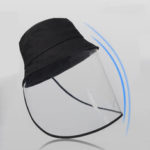 New              PVC Foldable Protective Mask Caps Anti-Fog Saliva Dust Droplet