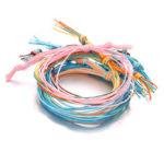 New              Bohemian Braided Rope Bracelet Set 6 Pcs Colorful Ethnic Bra