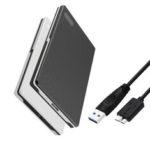 New              External Hard Drive Enclosure USB3.0 SATA Hard Disk Box 2.5 Inch HDD SSD Case USB to Micro USB Hard Disk Enclosure