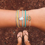 New              Bohemian Rainbow Leather 5 Pcs Bracelet Set