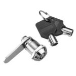 New              16/22mm Drawer Tubular Cam Safety Lock for Door Mailbox Cabinet Cupboard with 2 Keys