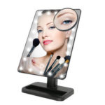 New              Makeup Mirror,Charminer 20 LEDs Touch Screen Light Illuminated Cosmetic Desktop Vanity Mirror with Removable 10x Magnifying Spot Mirrors(Batteries Not Included)