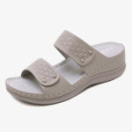 New              Women Solid Color Soft Sole Summer Casual Wedge Sandals