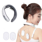 New              JT-500 Electric Pulse Neck Massager Far Infrared Heating Cervical Vertebra Treatment Pain Relief Tool Health Care Relaxation Electric Massager