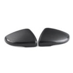 New              Carbon Fiber Left/Right Side Wing Door Rearview Mirror Cover Cap For VW Touran Golf MK6