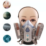 New              Reusable Camping Hiking Tactical Face Mask Half Face Safety Respirator Anti Pollution Filter Protection