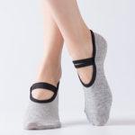 New              Women Cotton Non-slip Yoga Socks