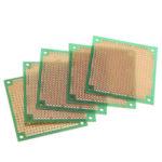 New              5pcs  60 * 60mm DIY Single-sided Green Oil PCB Universal Circuit Board