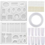 New              213Pcs DIY Epoxy Resin Casting Molds Kit Silicone Jewelry Pendant Craft Making Mould