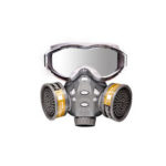 New              Anti Dust Gas Mask Respirator Eye Goggles Protector Breathing Face Mask KN95 Filter