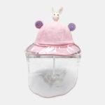 New              Kids / Little Kids(1-5ys)  Children's Cute Cartoon Removable Face Screen Fisherman Hat Windproof Dust Cap