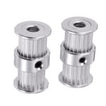 New              5mm/8mm 20Teeth Bore 2GT Double-head Conjoined Synchronous Wheel Timing Pulley