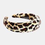 New              Leopard Print Sponge Headband