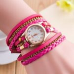 New              Fashion Casual Shell Surface Diamond Bracelet Watch Women Quartz Watch