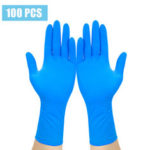 New              100Pcs Medical Disposable Gloves Isolate Prevent Gloves Waterproof  PVC Nitrile Synthesis Latex Comfortable Gloves