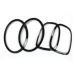New              4Pcs Black Headlight Head Tail Rear Lamps Trim Ring For Mini Cooper One JCW F55 F56