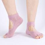 New              Women Open back Toe Yoga Socks