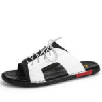 New              Men Lace Slip On Casual Soft Beach Sandals