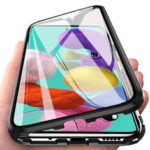 New              Bakeey 360º Curved Magnetic Flip Double-sided 9H Tempered Glass Metal Full Body Protective Case for Samsung Galaxy A71 2019