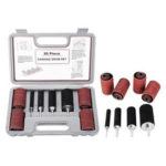 New              20Pcs/Set 80/120 Grit Sanding Drum Kit Drum Rubber Mandrels for Drill Press Woodworking Kit